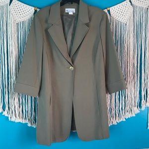 Vintage Elliott Lauren size 16 long  green blazer